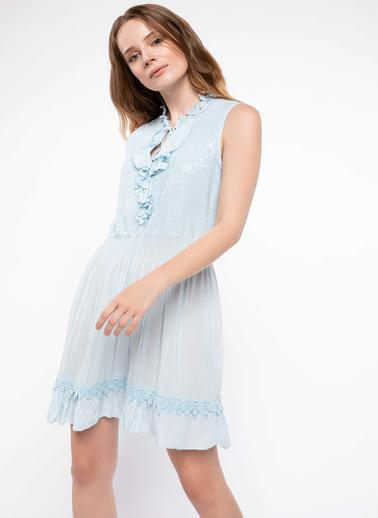 DeFacto Elbise Mavi